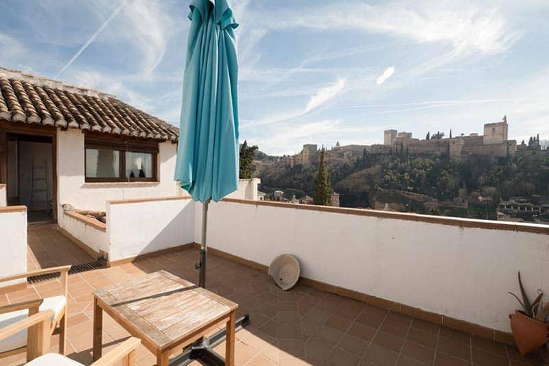 Private Terrace at Casa Bombo in Granada