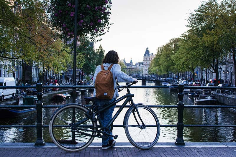 Amsterdam Cycling in Winter Times