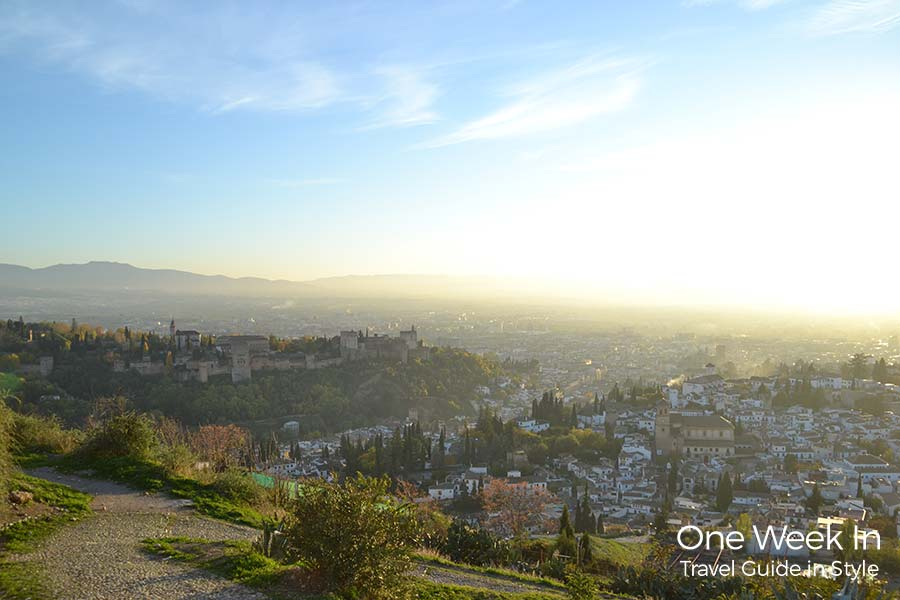 Granada with its beautiful panoramic view