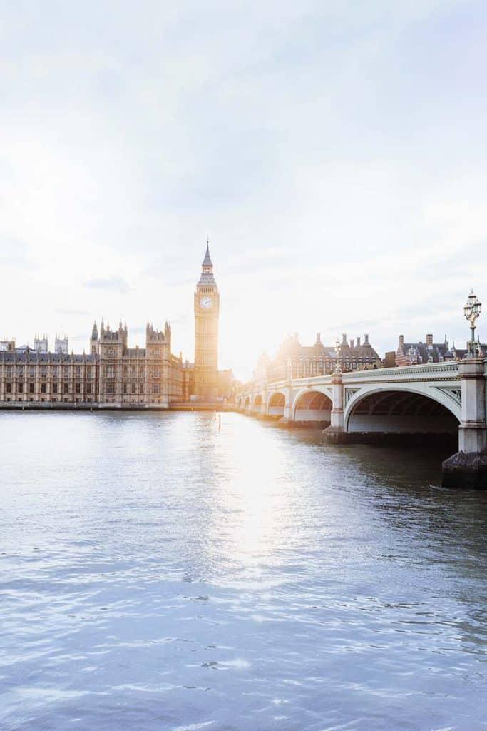 Sun is shining in London