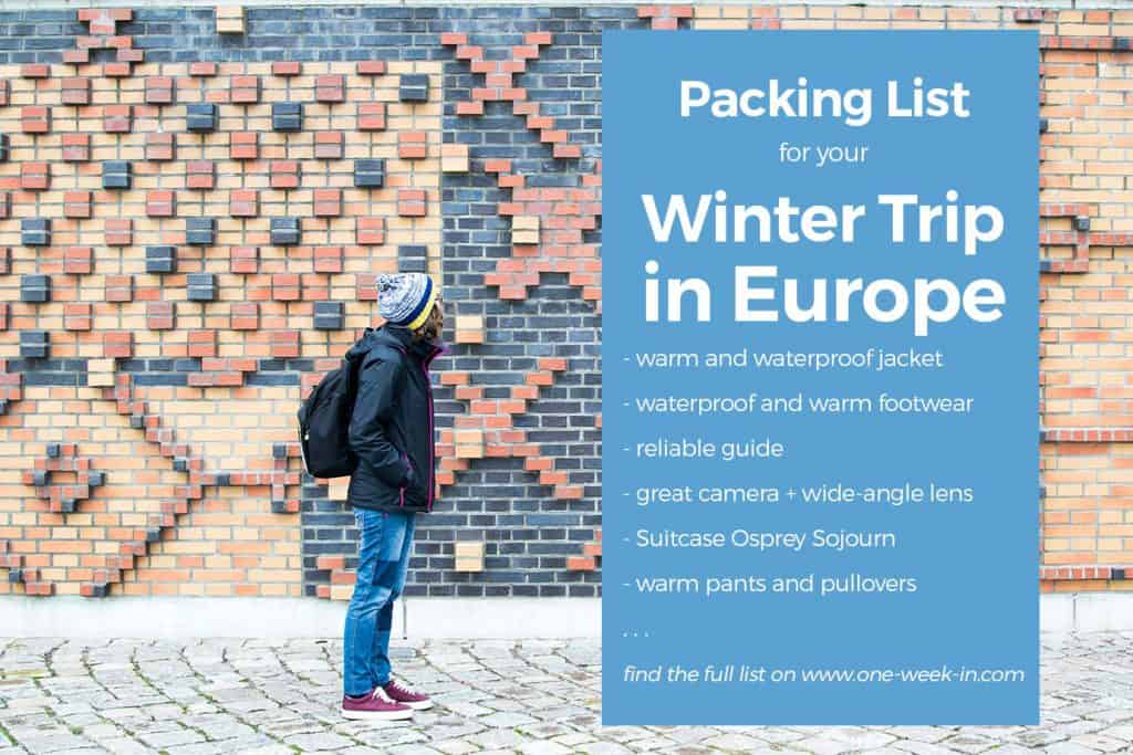 Packing List for Traveling Winter in Europe