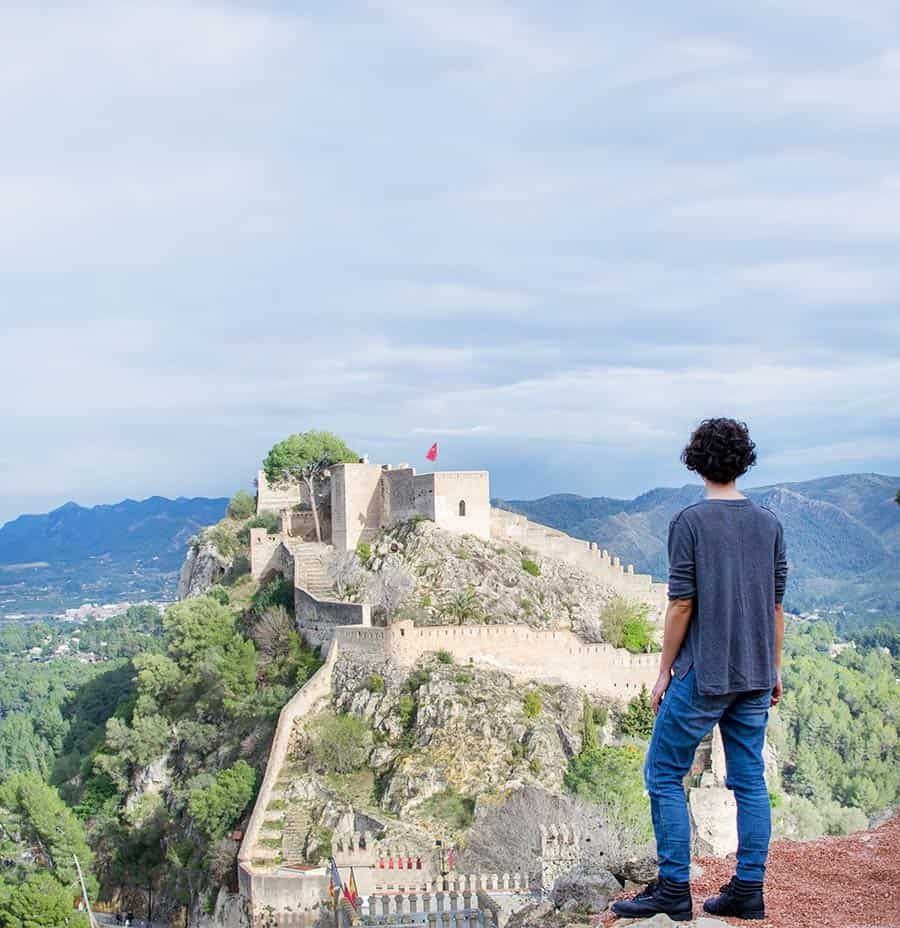 Xativa - a piece of Chinese Wall and tiny Alhambra of Granada