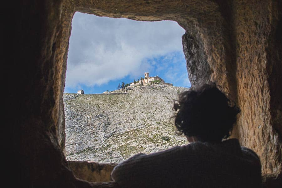 The views from Caves de Moros in Bocairent - one of the best things to do in Spain
