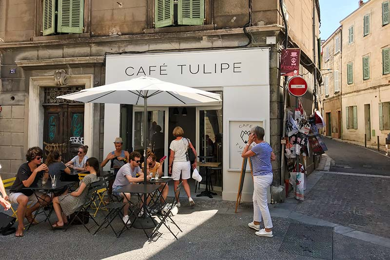 Cafe Tulipe in Avignon, France