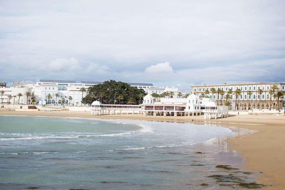 Beautiful beach in Cadiz, Spain