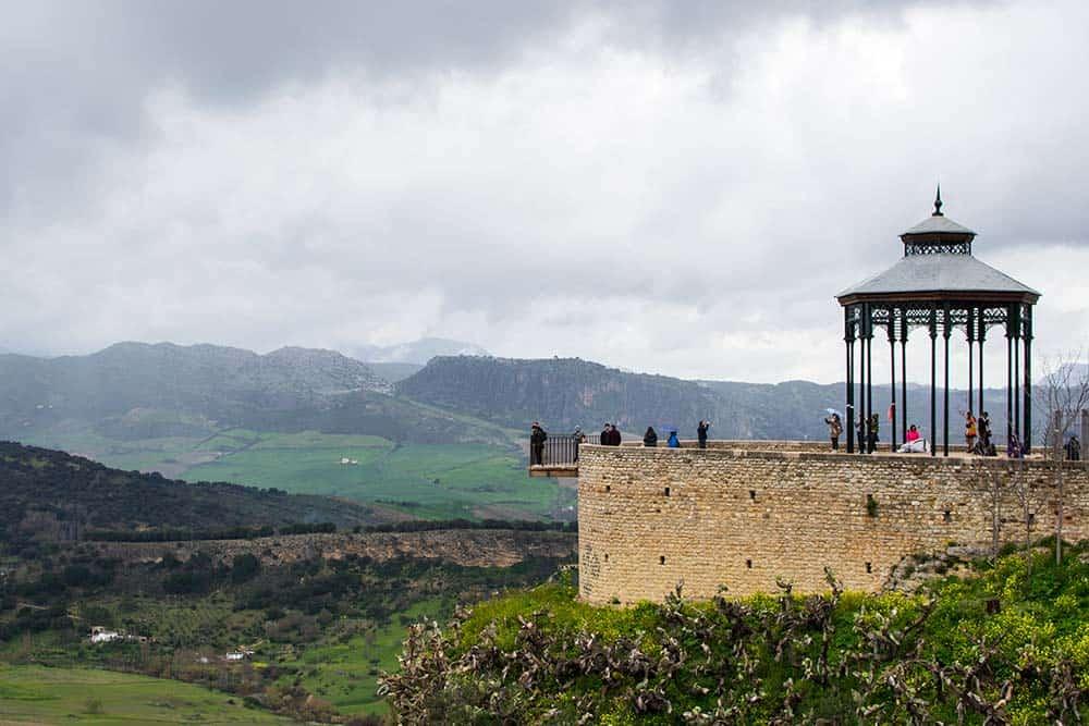 Ronda impressive balcony in Spain