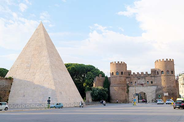The Pyramid in Rome