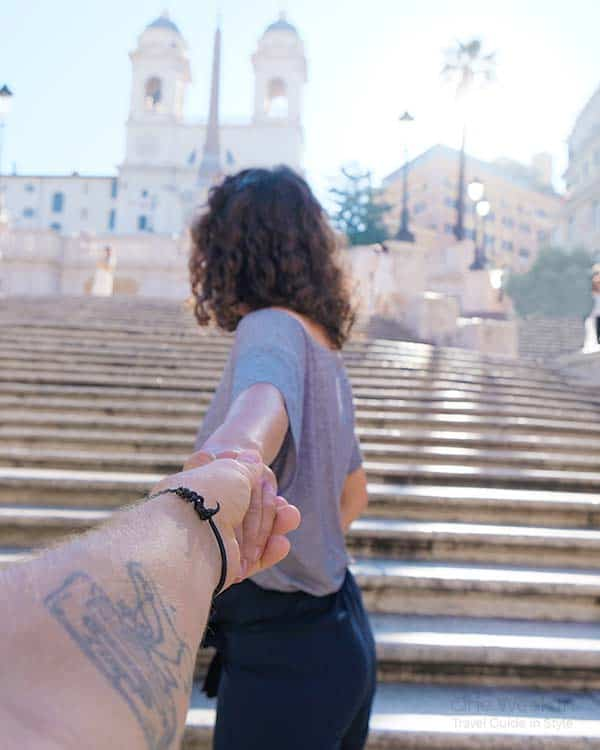 Spanish Steps in Rome; one of the most romantic things to do in Rome for couples