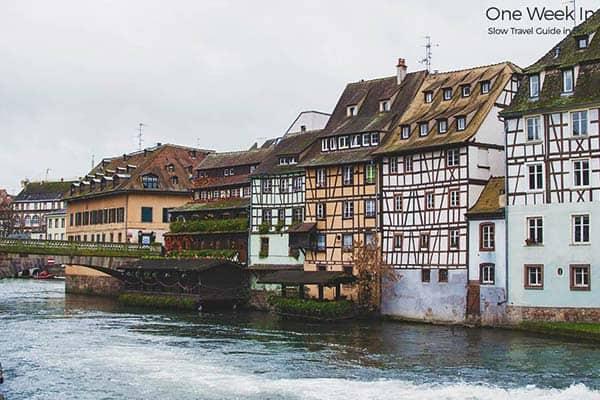 Strasbourg in Alsace, East France
