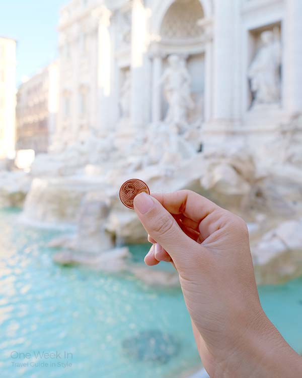 Trevi Fountain - throw your coin and make a wish