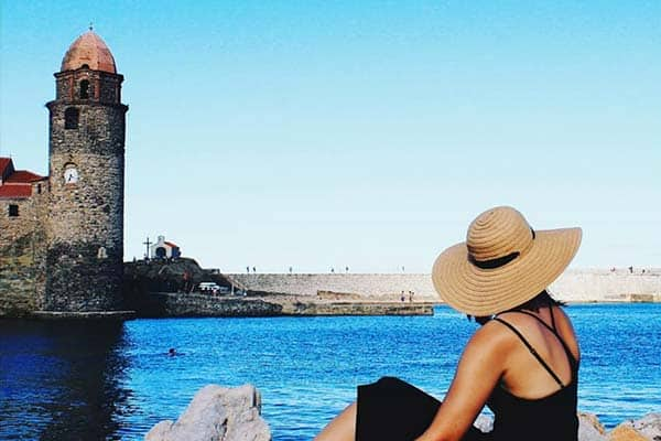 Collioure in South France, a beautiful costal town in France near Costa Brava