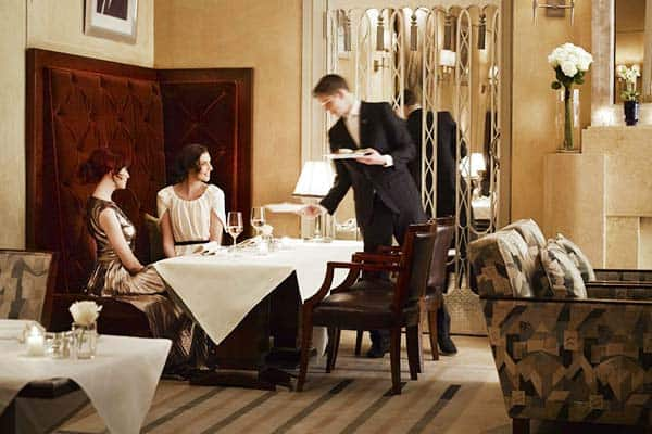 luxury restaurant at The Claridges, London