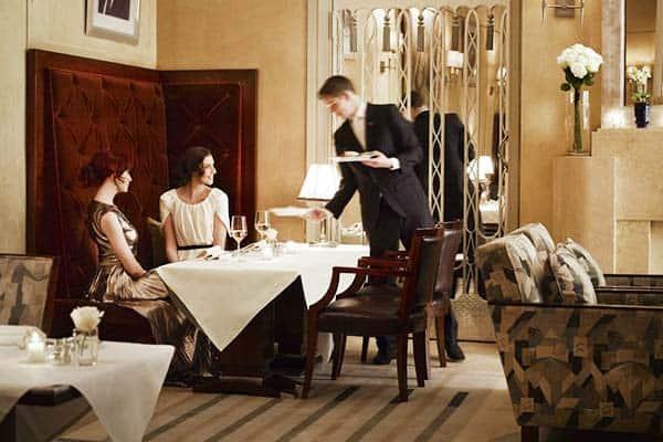 luxury restaurant at The Claridges, London