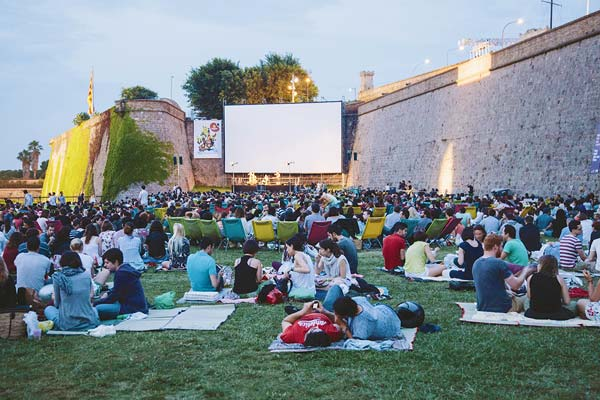 Montjuic's Castle and Cinema in Barcelona - a great thing to do for couples in Barcelona