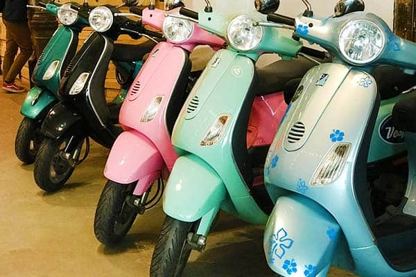 Which color do you chose? Vespa Rental in Barcelona