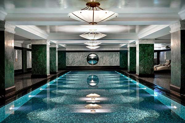 Swimming pool at the Ned Hotel london