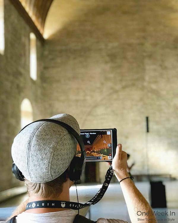 Probably the most awesome audio guide we have ever seen: The audio guide at Palais de Popes in Avignon
