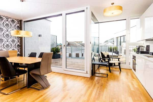 Enjoy panoramic view of Vienna and some of its tourist destinations from Abieshomes Serviced Apartments' terrace