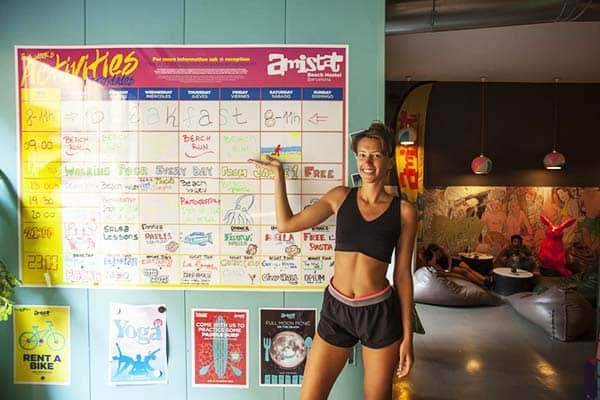 Fill your days with amazing activities at Amistat Beach Hostel