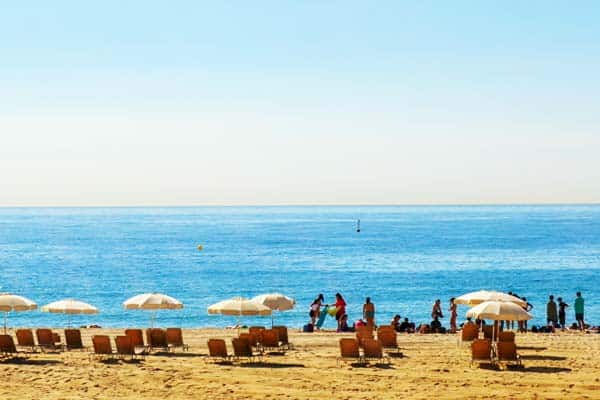 Say hello to the Mediterranean sea and golden sand at Bogatell Beach
