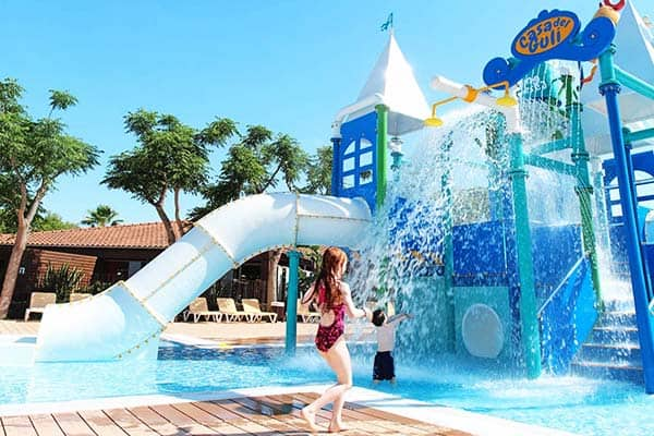 Kids have a great variety of pools to choose from at Camping Resort Sanguli Salou