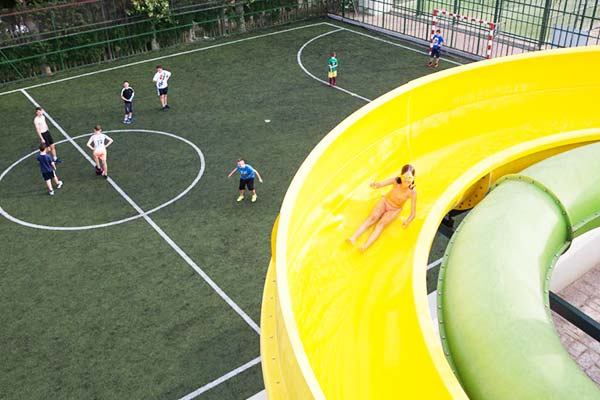 Offering an exciting adventure through the slides is Camping Resort Sanguli Salou