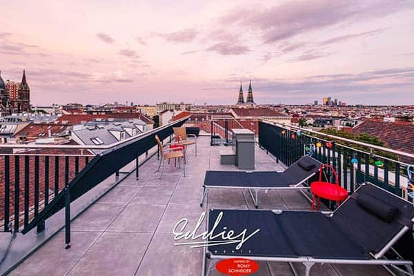 Boasting an amazing overlooking view of Vienna from the roof terrace is Eddie's Design Apartments