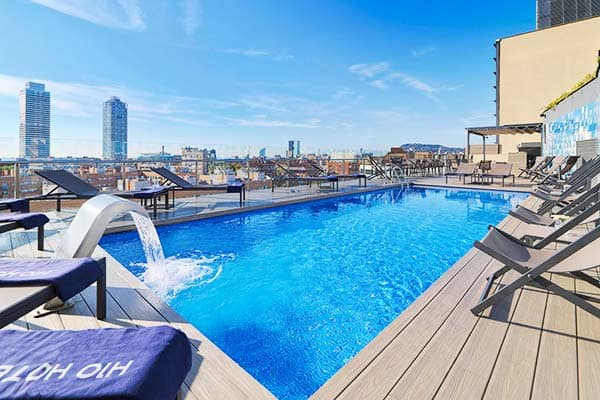 Aside from the beach, you can also take a swim at H10 Marina's rooftop pool