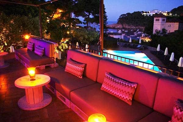 Relax through the night at Hotel Aiguablava's deck