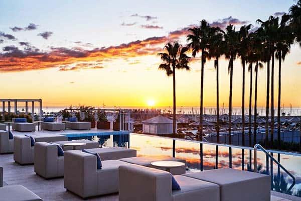 Be amazed with stunning sunset at Hotel Arts Barcelona