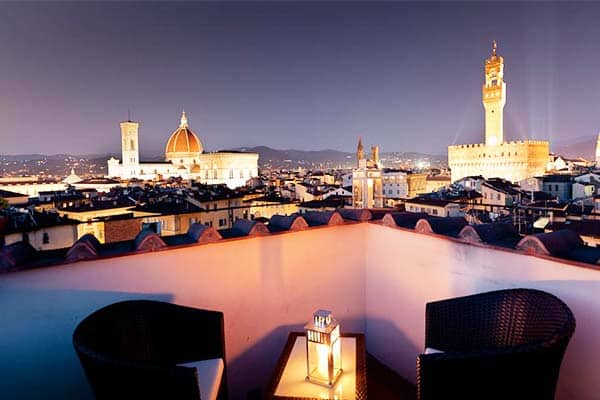Have an amazing view of Florence at Hotel Torre Guelfa Palazzo Acciaiuoli