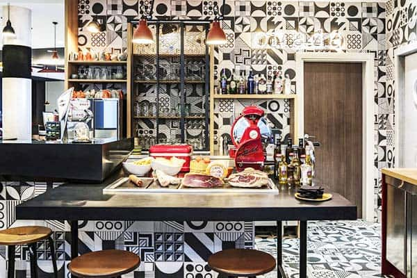 Feel the homely vibes of the kitchen at Ibis Styles Barcelona Bogatell