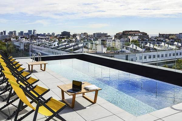 Relax and take a dip at Ibis Styles Barcelona Bogatell's rooftop pool