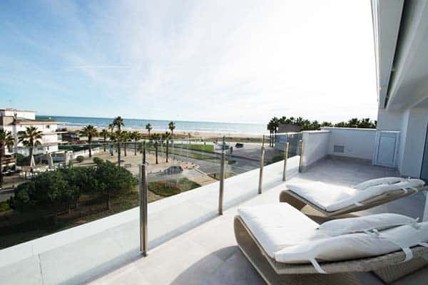 Some rooms at Masd Mediterraneo Hotel offer a view of the Mediterranean sea
