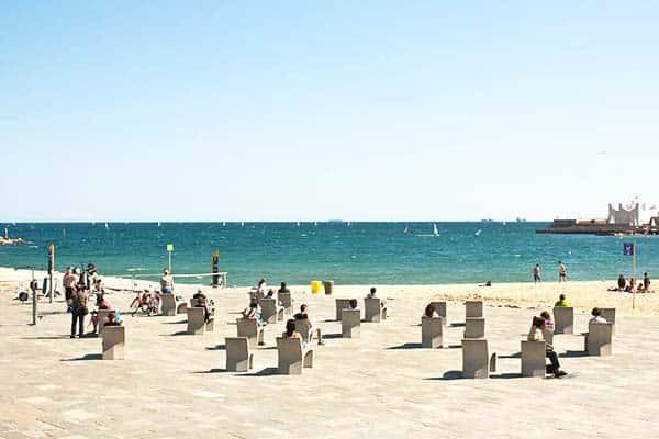Hava an Instagramic photo on Nova Icaria Beach' chairs