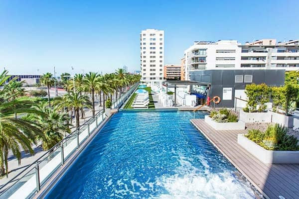 Have an option of a swimming pool at Occidental Atenea Mar - Adult Only aside from the beach
