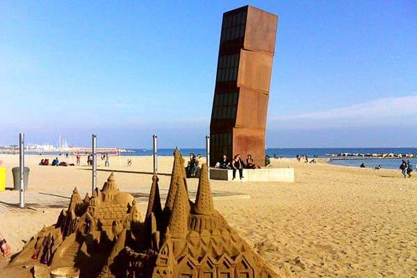 See amazing sand castles on your walk through San Miguel Beach