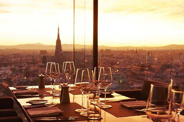 Dine in SO Vienna's restaurant that boasts an amazing view of St. Stephen's Cathedral