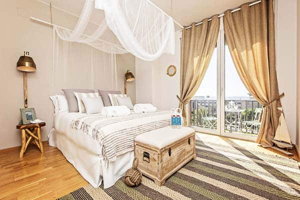 Have an overlooking view of the Mediterranean sea at your room at Sweet Inn Villa Olympica