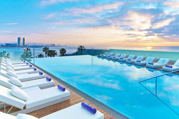 Have an amazing view of the Mediterranean sea at W Hotel's rooftop pool