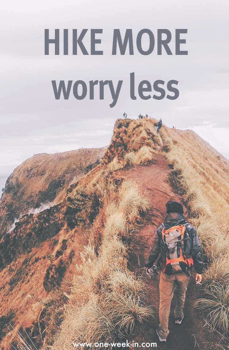 Hike more worry less outdoor quote