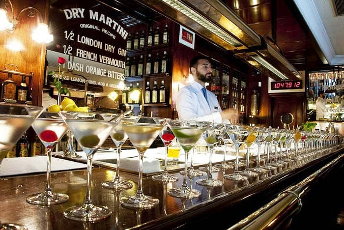 Grab yourself a glass or two of martinis from the expert Dry Martini Barcelona