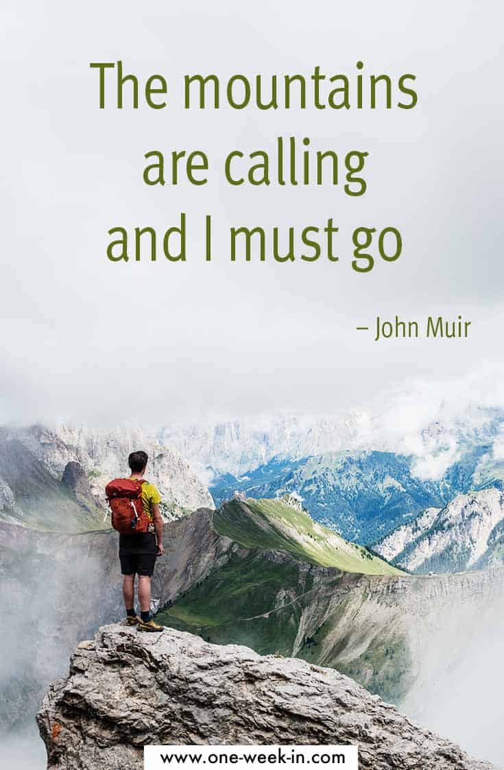 Famous adventure quote John Muir