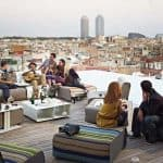 Have an amazing time with friends and have a lovely view at Sky Bar Barcelona