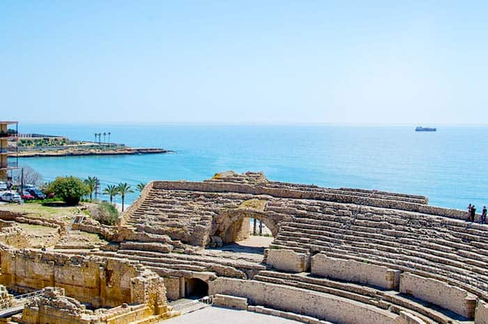The Amphitheatre in Tarragona; just a weekend trip away from Barcelona