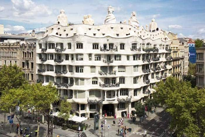 See La Pedrera at night and see the highlights of its structures
