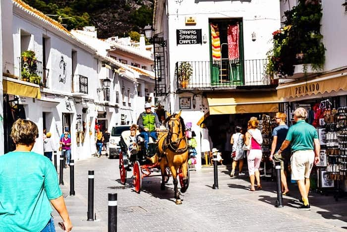White houses, cobbled streets, and amazing views await you in Mijas, Malaga