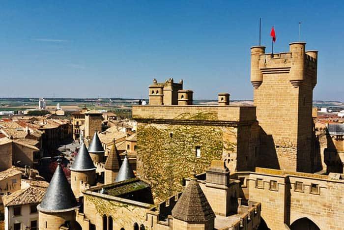 Visit a castle like Disneyland in Olite Spain