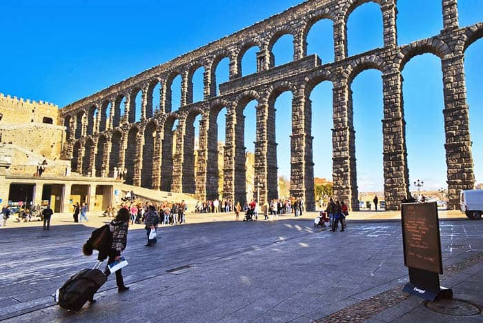 Segovia is only a 30 minutes by speed train from Madrid