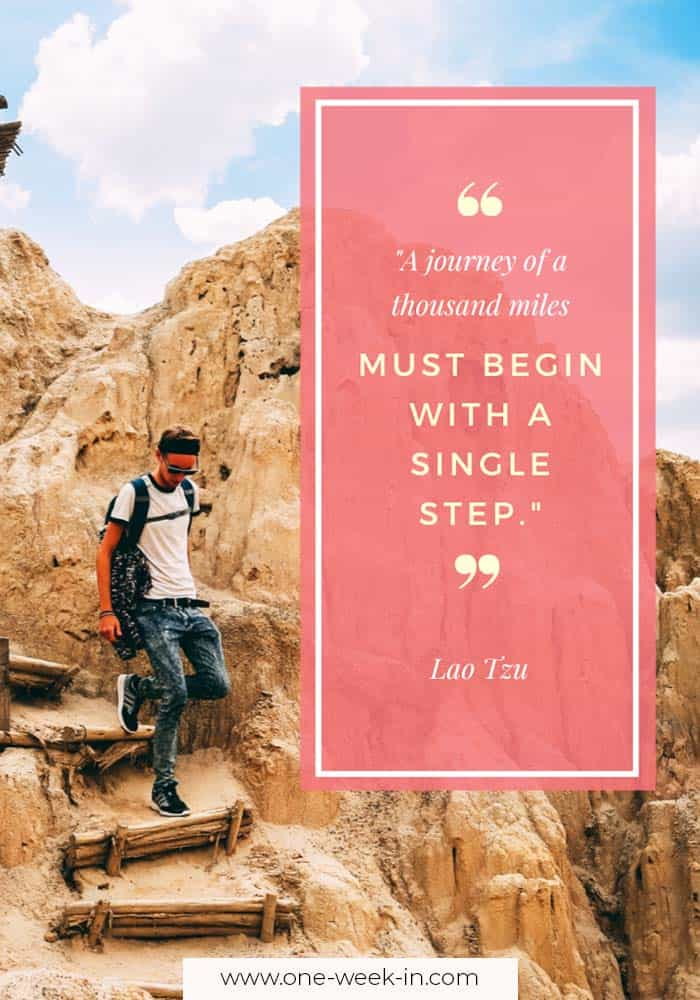 A journey of a thousand miles must begin with a single step